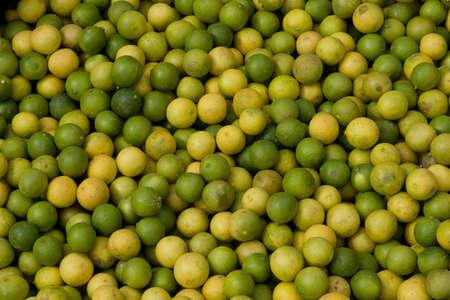 Fresh green Limes in fruit market