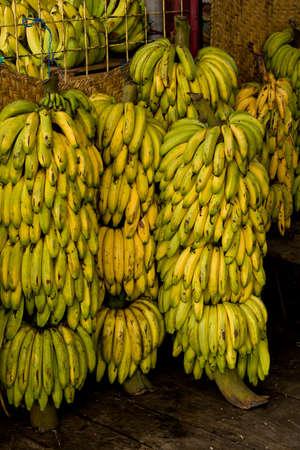 Fresh Bananas at Ecuadorian fresh fruit market