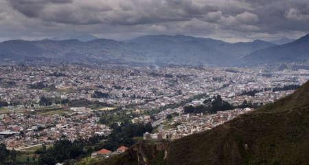 loja: Ver vistas Loja Ecuador, en un valle de la Cordillera de los Andes Foto de archivo