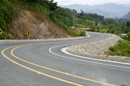 A new modern road in Ecuador,fresh and clean Stock Photo - 17191834