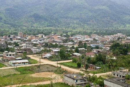 loja: View overlooking Yantzaza Ecuador, a town at the edge of the Amazon Jungle