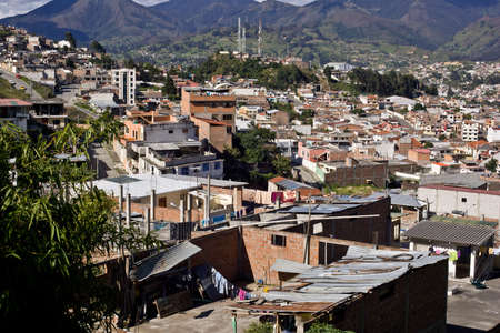Loja Ecuador, view with Andes mountains, and blue sky Stock Photo - 17334890