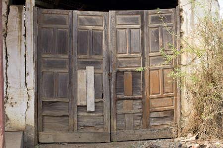 Old Door in weathered wall