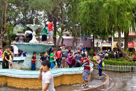 loja: VILCABAMBA LOJA ECUADOR ,Feb 09, 2013   Carnival in Vilcabamba Southern Ecuador in Feb 2013, includes water fights and spray foam