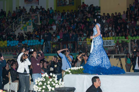 LOJA  ECUADOR,  AUGUST 30 2013  Kenny Chamba de Espíndola competes in Reina de la provincia de Loja  Queen of Loja   August 30 2013 in Loja Ecuador  Electing Queens is a part of Ecuador Culture