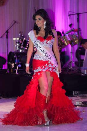 loja: LOJA  ECUADOR,  AUGUST 30 2013  Andrety Ríos de Gonzanamá, competes in Reina de la provincia de Loja  Queen of Loja   August 30 2013 in Loja Ecuador  Electing Queens is a part of Ecuador Culture Editorial