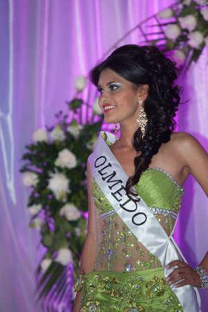 loja: LOJA  ECUADOR,  AUGUST 30 2013  Katty López de Olmedo competes in Reina de la provincia de Loja  Queen of Loja   August 30 2013 in Loja Ecuador  Electing Queens is a part of Ecuador Culture