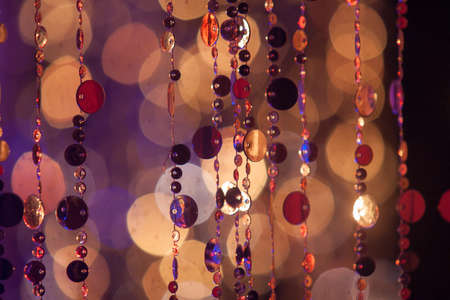 Circles, lights and colours warm red earth tones Stock Photo