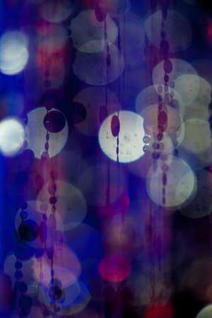 Circles, lights and colours, blue cool tones
