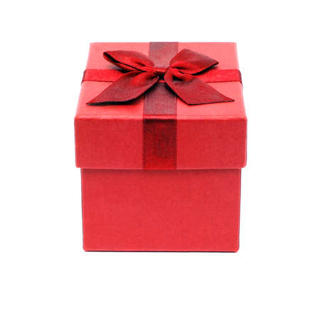 A photo of a gift box isolated