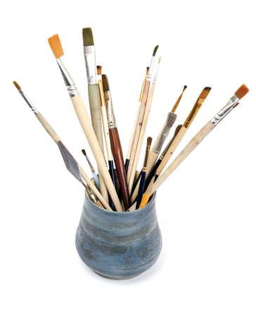 brushes in pot Standard-Bild
