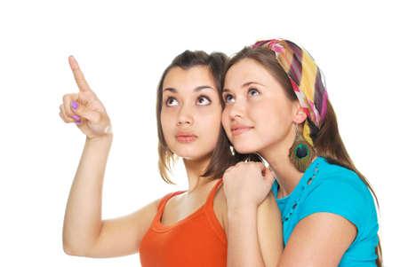 two girls Standard-Bild