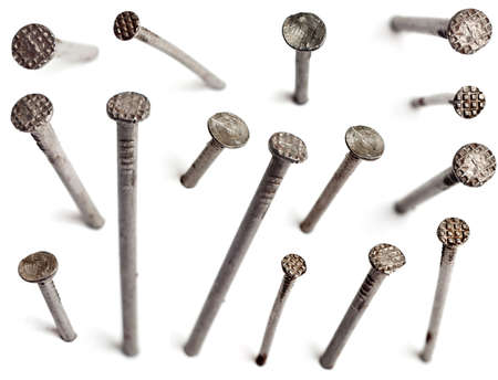 steel head: Nails Stock Photo