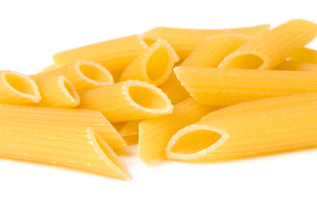 Rigati Pasta with White Background photo