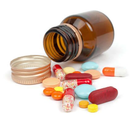pills isolated on white background Standard-Bild