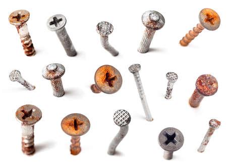hammer head: Nails Stock Photo