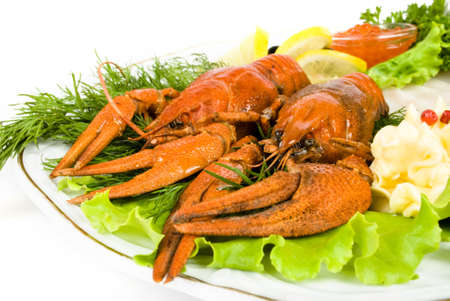 lobsters with salad photo