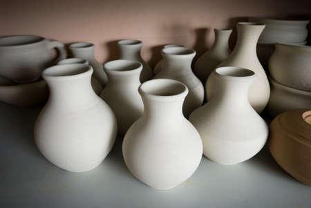 clay pottery ceramics Standard-Bild