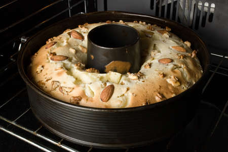 coking: pie in the oven Stock Photo