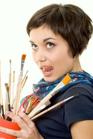 artist-girl photo
