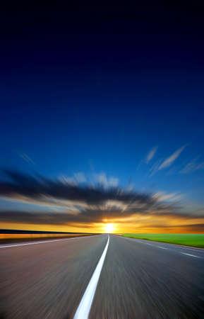 along the road Standard-Bild