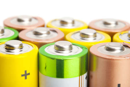 alkaline batteries isolated on white background Stock Photo - 17277768