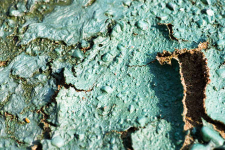 chemical pollution of the nature in Chaykovsky city, Russia photo