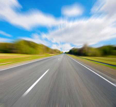 along the road Фото со стока