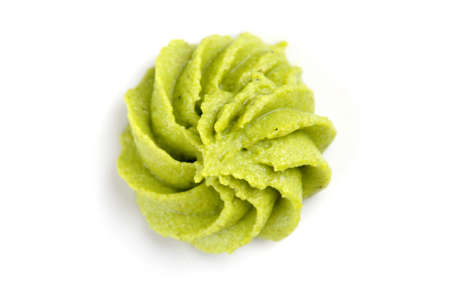 Wasabi on white background