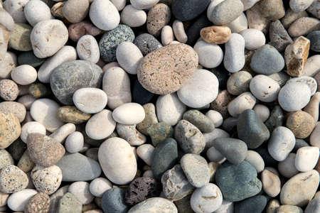 beach stones background Stock Photo