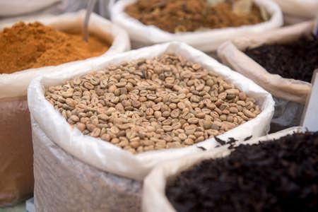 unroasted: Unroasted coffee on market