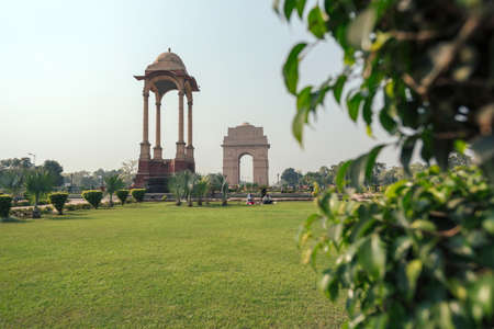 Historic India Gate Delhi - A war memorial on Rajpath road New Delhi