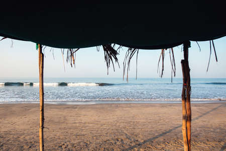 Ocean view from under the tent. Arambol, India