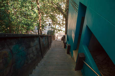 Ladder to the beach in Thailand Foto de archivo - 124686544