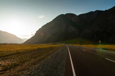 Mountain road in Altai.
