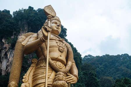 Batu Caves statue and entrance near Kuala Lumpur, Malaysia. Stock Photo