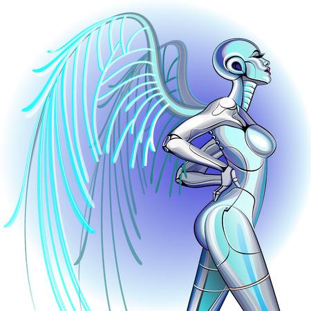 robot girl: robot girl Illustration