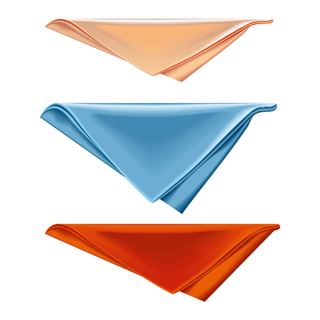 Vector Napkin folded triangle on a white background.