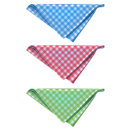 Triangular form. Color: red, blue and green.