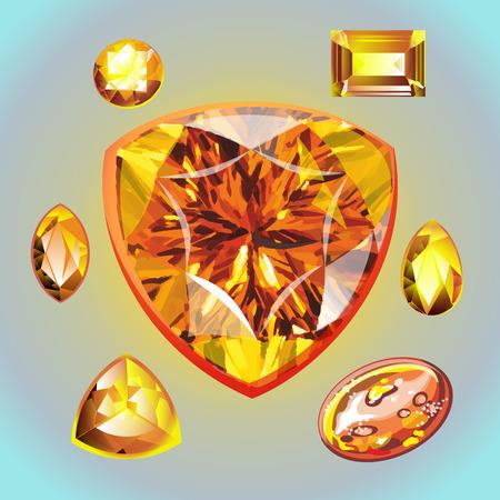 Colección de gemas.