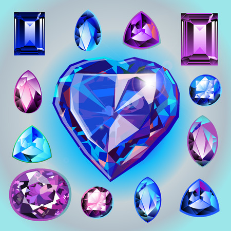 path to wealth: Collection of gems.