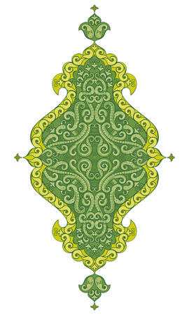 indian teenager: Vector ornaments in Indian style. Illustration