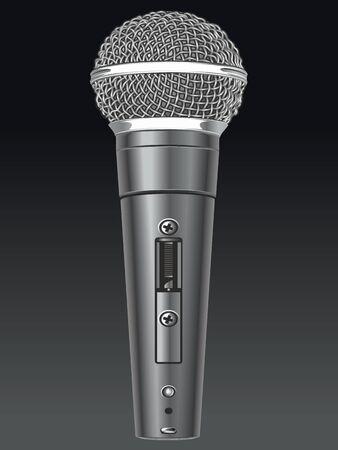 Vector microphone. Illustration