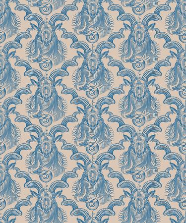 Repaint seamless pattern. Beige background