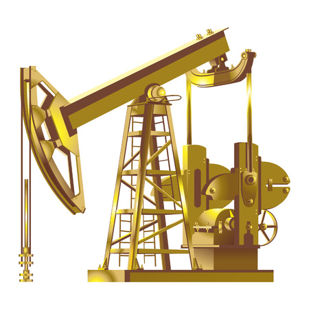 Oil pump jack. Oil industry equipment. Vector illustration. 向量圖像