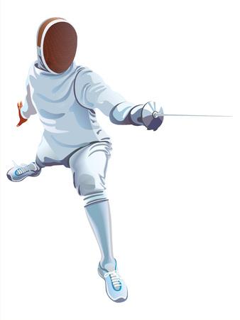 esgrimista: Los atletas de esgrima jugador Esgrimidor Espadachín