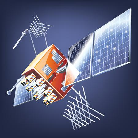 Vector telecommunications satellite