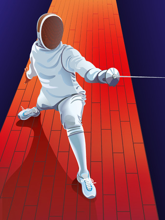 vector fencing player fighting