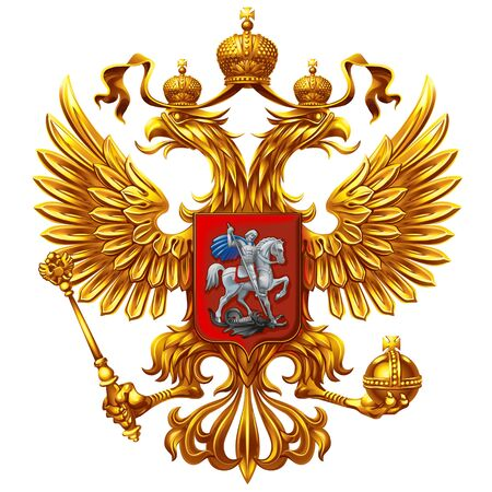 Coat of arms of Russia on a white background