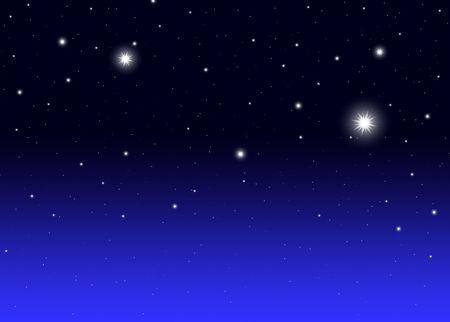 Niebo nocy z ilustracji gradientu gwiazd